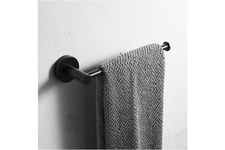 (Black Towel Holder, Black Towel/Paper Holder) - Leekayer Towel Shelf Bathroom Corner Rail 20 cm (7.87 Inch) Wall Mount Single Bar Hanger Black Painting