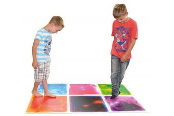 Art3d 6-Tile Sensory Room Tile Multi-Colour Exercise Mat Liquid Encased Floor Playmat Kids Play Floor Tile, 1.5sqm