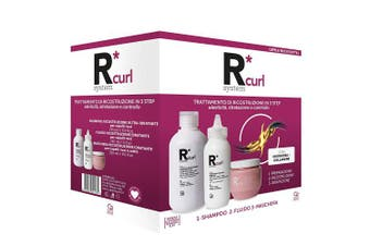 R System Curl Professional Curly Hair Reconstruction Treatment Kit Contains Ultra Moisturising Hair Shampoo Fluid And Hair Mask For Curly Damaged And Frizzy Hair Kogan Com