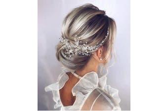 (Gold) - Deniferymakeup Crystal Bridal Hair Piece Bridal Hair Accessories Bridal Hair Comb Wedding Headpiece Wedding Hair Piece Wedding Hair Accessories (Gold)