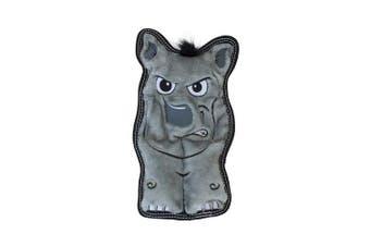 (Medium, Rhino) - Outward Hound Invincibles Tough Seamz Durable Tough Plush Dog Toy