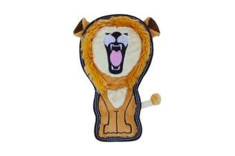 (Medium, Lion) - Outward Hound Invincibles Tough Seamz Durable Tough Plush Dog Toy