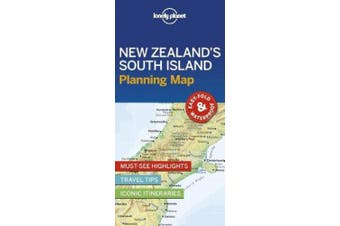 Lonely Planet New Zealand's South Island Planning Map (Map)