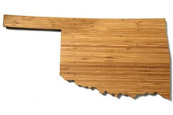 (Oklahoma) - AHeirloom State of Oklahoma Cutting Board, 38cm , Amber