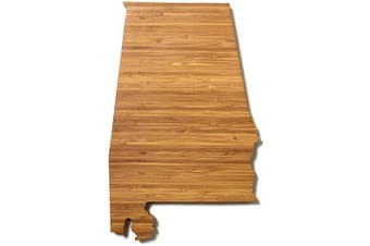 (Alabama) - AHeirloom: The Original State Shaped Serving & Cutting Board. (As Seen in O Magazine, Good Morning America, Real Simple, Brides, Knot.) Made in the USA from Organic Bamboo, Large 38cm (Alabama)