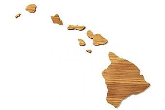 (Hawaii) - AHeirloom: The Original State Shaped Serving & Cutting Board. (As Seen in O Magazine, Good Morning America, Real Simple, Brides, Knot.) Made in the USA from Organic Bamboo, Large 38cm (Hawaii)