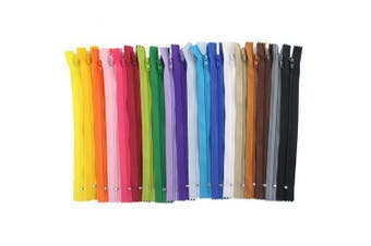 (23cm ) - 120 Pieces Nylon Coil Zippers, Bantoye 23cm #3 Colourful Sewing Zippers Supplies for Tailor Sewing Crafts, 20 Assorted Colours