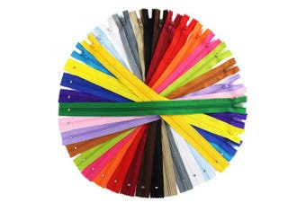 (36cm ) - 80 Pieces Nylon Coil Zippers, Bantoye 36cm #3 Colourful Sewing Zippers Supplies for Tailor Sewing Crafts, 20 Assorted Colours