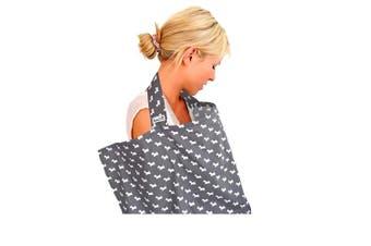 BebeChic.UK * Top Quality Oeko-Tex® Certified 100% Cotton * Breastfeeding Covers * Boned Nursing Tops – Grey/White Scotties