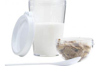 (White, Pack of 1) - eBuyGB 13337 Yoghurt Cereal Cup Container, Plastic White