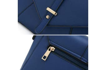 (Blue) - Medium Sized Crossbody Purse for Women Designer Shoulder Bags Ladies Handbags