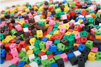 a2bsales 100 x 1cm Cubes - Counting Interlocking Snap Building Maths Home Early Learning