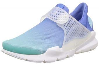 (3.5 UK, White (Still Blue/White/Polarized Blue 400)) - Nike Women's WMNS Sock Dart Br Gymnastics Shoes Black