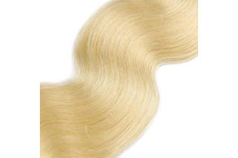 (46cm , #613 (Bleach Blonde)) - BESFOR Tape in Hair Extension 100% Remy Human Hair Extension Machine Made #613 Bleach Blonde 46cm Skin Weft Tape in Hair 40grams/20pcs