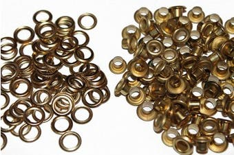 (6 mm, Bronze) - 200 Pcs Metal Grommets Eyelets Self Backing for Bead Cores, Clothes, Leather, Canvas (Bronze, 6 mm)
