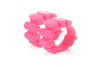 (0.5kg, Pink&Red) - TOSAMC Durable Wrist Weights - Wearable Weight Bracelet Intensify Fitness, Exercise, Walking, Jogging, Gymnastics, Aerobics, Yoga, Gym; 2pics Set.