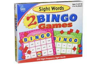 Two Bingo Games, Sight Words and More Sight Words, Ages 6 and Up