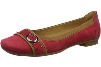 (4 UK, Red (Rot/Cognac 15)) - Gabor Shoes Women's Gabor Casual Ballet Shoes