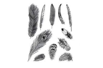 Different Feather Designs Fur Stamp Rubber Clear Stamp/Seal Scrapbook/Photo Album Decorative Card Making Clear Stamps