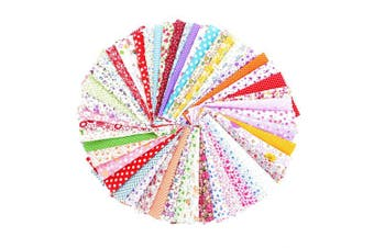 "(25cm*25cm) - 50PCS BcPowr 10"" x10"" (25cmx25cm) Different Pattern Fabric Patchwork Craft Cotton DIY Sewing Scrapbooking Quilting Dot Pattern"