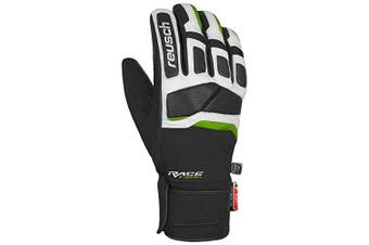 (10.5, Black/White/Neon Green) - Reusch Mastery Gloves, Unisex, 4801120