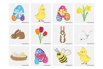 HENBRANDT 48 x Easter Temporary Tattoo's