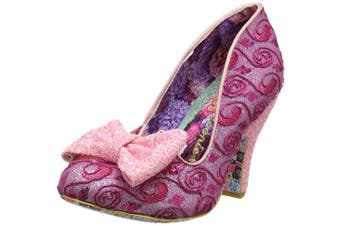 (7.5  (41 EU), Pink (Pink Glo Aop)) - Irregular Choice Women's Nick of Time Closed-Toe Pumps