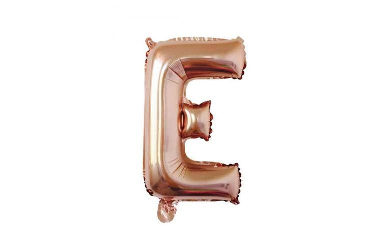 (Letter E) - 80cm Foil Balloon Letters Numbers Balloons for Birthday Wedding Christmas Party Banner Decoration (Rose Gold)