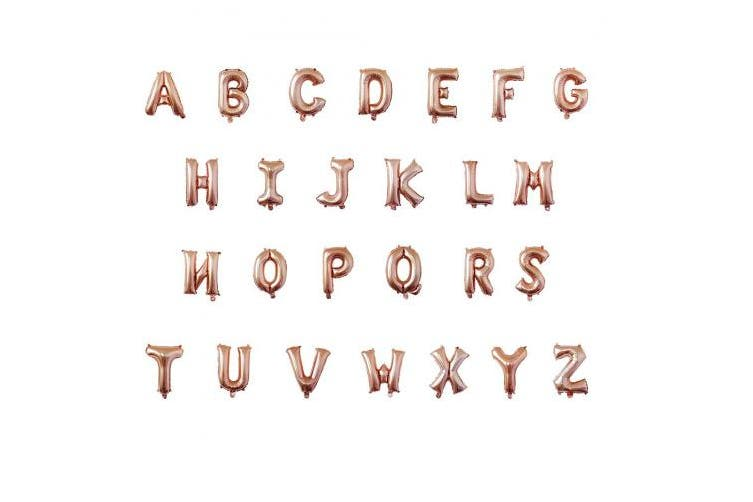 (Letter Q) - 80cm Foil Balloon Letters Numbers Balloons for Birthday Wedding Christmas Party Banner Decoration (Rose Gold)