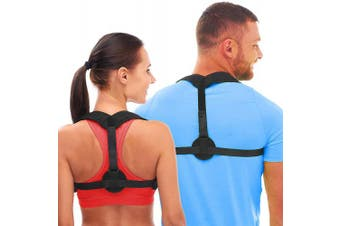 (Black-S1, M(90cm  - 110cm )) - ATNKE Back Posture Corrector for Women & Men - Effective and Comfortable Posture Brace for Slouching & Hunching - Discreet Design – Posture Chest Supports/Chest 70cm - 120cm