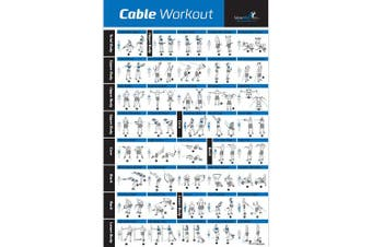 (50cm  x 80cm ) - Laminated Cable Exercise Poster - Hang in Home or Gym :: Illustrated Workout Chart with 40 Cable Machine Exercises :: for All Fitness Levels, Men & Women