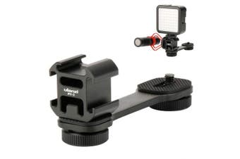 (PT-3) - ULANZI PT-3 Triple Cold Shoe Mount Adapter Microphone Extension Bar for Zhiyun Smooth 4 DJI Osmo Pocket Gimbal Accessories