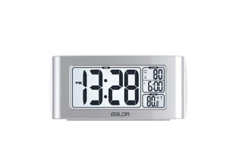 (White) - BALDR Nap Timer Alarm Clock with Quick Set-up Digital LCD Temperature Display Snooze Buttons White Backlight (WHITE)