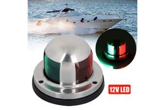 (Navigation Light 01) - Acelane LED Navigation Lights Bi-Colour Red and Green Sidelights Stainless Steel 12V Bow Side Port Starboard for Boating Fishing Yacht, Pontoons, Chandlery Boat, Skeeter