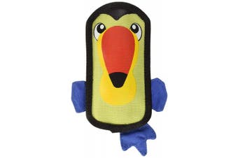(Small, Toucan) - Outward Hound Fire Biterz Durable Tough Firehose Material Plush Dog Toy