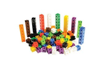 a2bsales 100 x 2cm Snap Cubes - Counting Linking Building Maths Home Early Learning
