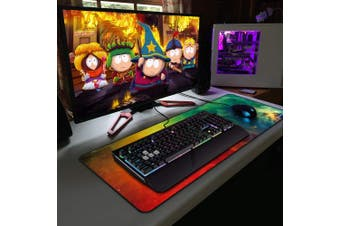 (Orange Green Galaxy) - XMyth XL Mouse Pad(27.6x 11.20cm x 0.3cm ), Extended Gaming Mouse Pad Extended Desk Pad Large Mouse Pad Wide Long Non-Slip Rubber Mice Pads Stitched Edges with Portable Bag
