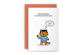 Cards | Birthday | Funny | Humourous | Greeting | Cat | Kitten | Men | Women | Mum | Dad | Husband | Boyfriend | Girlfriend | Wife | Animal | Star Trek | Live Long and PROSPURR|