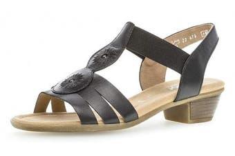 (6.5 UK, Schwarz) - Gabor 22.474 Women,Strappy Sandals,Sandal,Summer Shoes,Summer Sandal,Comfortable,Comfort-Mehrweite