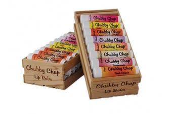 (Candy Cane) - Chubby Chap - One (1x) Large Jumbo Chapstick Natural Chapstick - .150ml Lip Balm (Candy Cane)