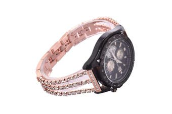 (rose gold) - Watch Straps compatible Samsung Galaxy 46mm,S3 Frontier/Classic Women Glitter Stainless Steel Band,22mm Rose Gold Bracelet with Folding clasps Replacement Wristband for Samsung S3/Moto 360 2nd