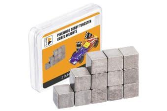 BBTO Pinewood Derby Weights 12 Pieces Tungsten Weights 0.6cm Incremental Cubed Car Cube Weights (60ml)