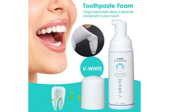 (Type 3) - Anself V-WHITE Toothpaste Foam 2pcs 60ml Deep Cleaning Teeth Whitening Toothpaste Liquid Natural Mouth Wash Water
