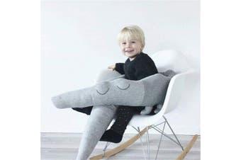 (185CM, grey) - Cot Bumper, Cot Cushion, Crocodile Style Baby Cot Bumper Bumper Bumper for Baby Cot, Blanket Cushion, Cot Bumper 185 cm Length