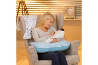 (Blissful blue) - Clevamama Clevafoam Nursing Pillow and Baby Nest - Blue