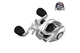(Right – 7.3:1) - Cadence CB6 Baitcasting Reels Lightweight with Aluminium Main Gear Fishing Reels with 8+1 Corrosion Resistant Bearings Baitcaster Reels with Carbon Fibre Drag 6.6:1 7.3:1 Gear Ratio Casting Reels