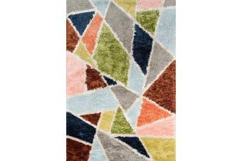 (0.6m x 0.9m) - Novogratz Retro Collection Prism Shag Area Rug, 0.6m x 0.9m, Multicolor