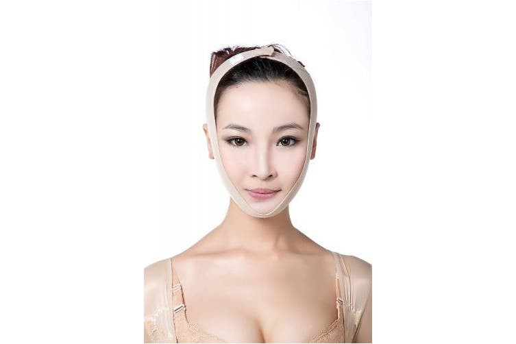 (XL, Beige) - Larrycard Chin Strap for Women Anti Snoring Chin Straps V Face Shaper Mask Face Lifting Slimmer Chin Lift Facial Compression (XL, Beige)