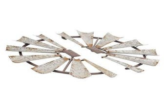 (38cm  x 80cm , Black/Gray) - Deco 79 22617 Metal Wall Decor (Set of 2) 38cm x 80cm Black/Grey