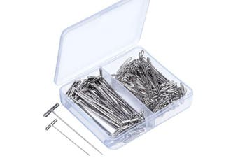 Blulu Steel T-pins 5.1cm , 1-1/ 5.1cm for Blocking Knitting, Modelling and Crafts, 150 Pieces